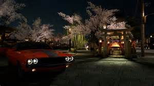 Cherry Blossoms And Maserati Nissan Skyline R34 Wallpaper