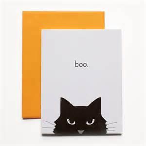 boo halloween cat card fine day press