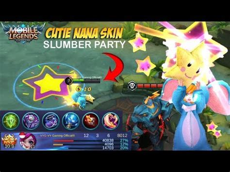 Skin Nana Slumber the most cutest skin nana slumber gameplay and build mvp mobile legends patch 2 13