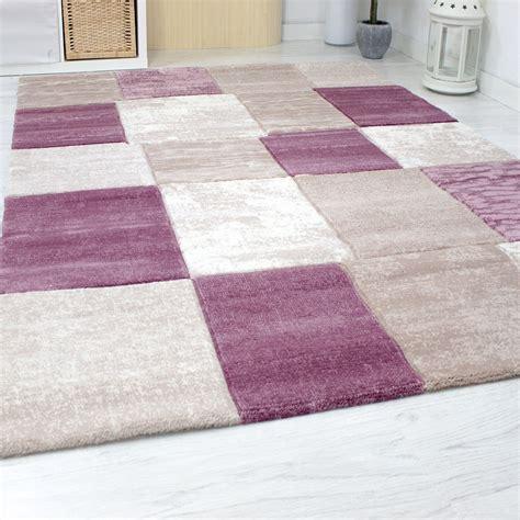 teppich pink designer teppich kariert meliert in rosa pink sehr dicht
