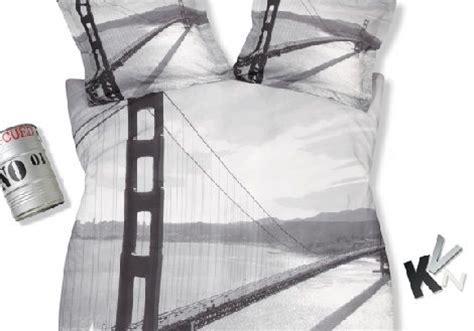 Sprei San Francisco 180x200x20 golden gate brug in san francisco kleur zwart wit multi dekbed overtrek merk dyck dekbed