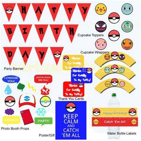 printable pokemon birthday banner pokemon banner printable images pokemon images