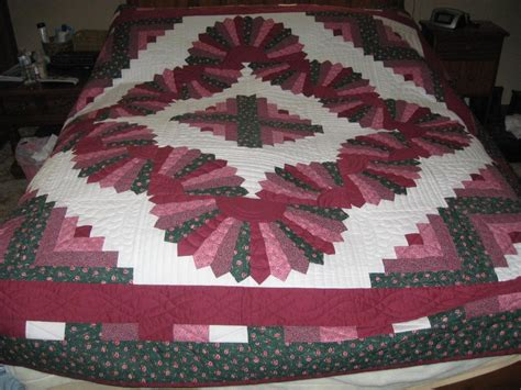 Log Cabin Quilt Pattern You To See Log Cabin And Fans Quilt On Craftsy