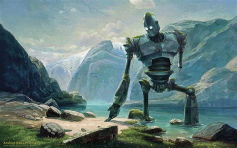 abandoned iron giant at lake in swiss mountains wallpapers