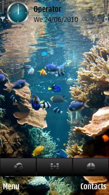 Hp Sony Aquarium тема animated aquarium скачать темы для мобильного смартфона коммуникатора