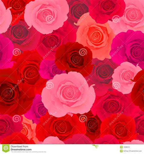 pink red pattern red pink rose seamless pattern stock photography image