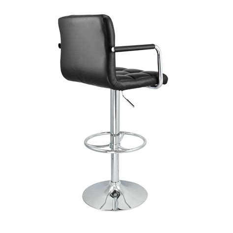 6 adjustable hydraulic barstool swivel bar stool white 6 swivel bar stool black w arm pu leather modern