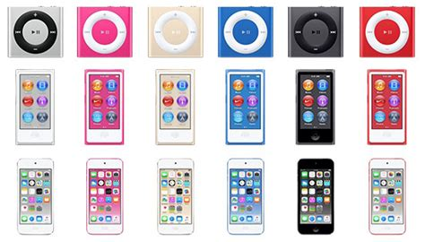 ipod touch 6 colors apple rumored to announce new ipod touch nano and shuffle