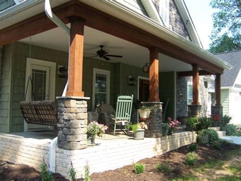 craftsman style porch 25 best ideas about stone pillars on pinterest porch