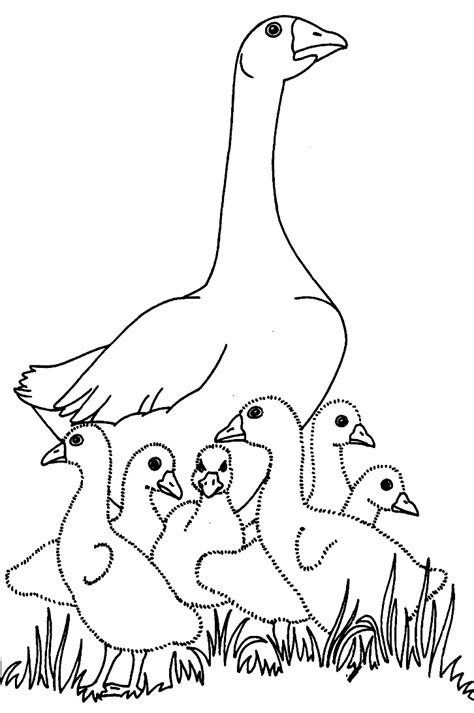 geese coloring pages coloringpages1001 com