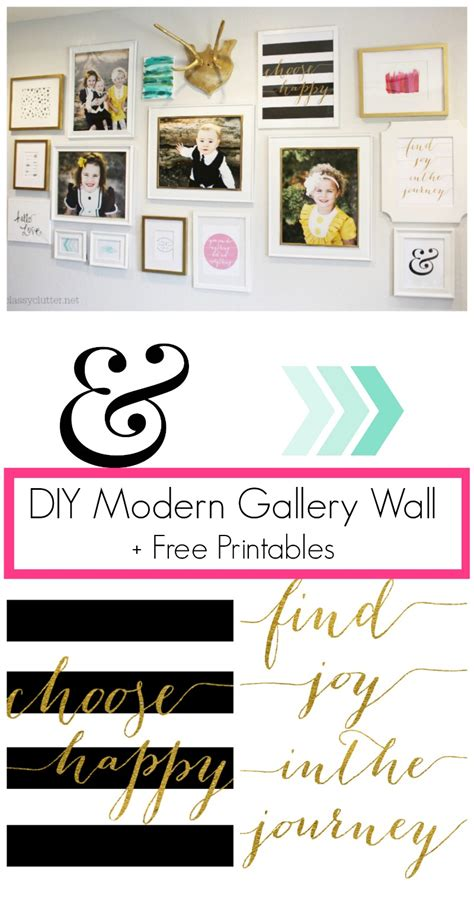 printable quotes for gallery wall diy modern gallery wall