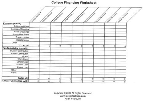College Worksheets by Pictures College Worksheet Getadating