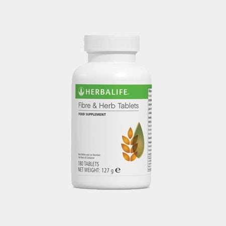 Fiber Herb Tablets independent herbalife member herbavida uk