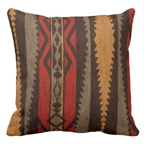 tribal pattern cushions tribal inspired fabric brown red orange stripes throw