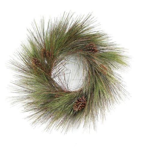 melrose long needle pine wreath with cones 24 inch new