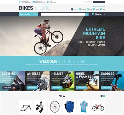 10 Bike Shop Magento Themes Templates Free Premium Templates Bike Shop Website Template
