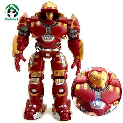 Figure Iron Heroes Marvel hulkbuster heroes figure marvel toys 17cm figures lighting
