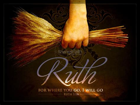 ruth and naomi women of faith powerpoint template women