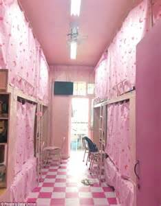 Cheap Decorating Ideas For Bathrooms university in sichuan pink dorm is for male students in
