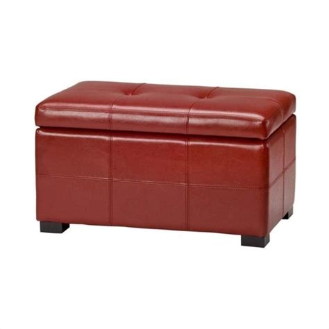 Safavieh Storage Ottoman Safavieh Small Maiden Tufted Leather Storage Ottoman In Hud8230r