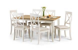 oak dining table and white chairs images