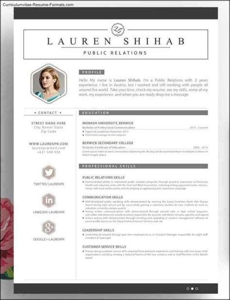 free creative resume template word free sles