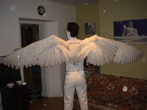 How To Make Paper Wings For A Costume - how to make a pair of wings 15 steps with pictures