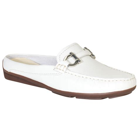 lewis flat shoes lyst lewis vienna suede backless moccasin slipon