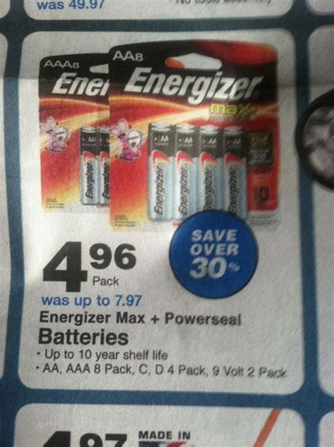 valu home center battery stock up