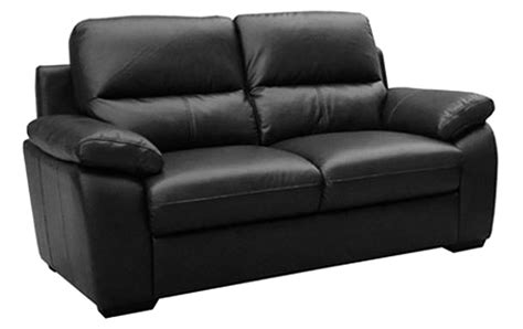 Sale Gloucester Regular 2 Seater Black Leather Sofa Sofas