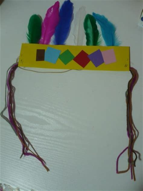 indian paper crafts indian headband family crafts
