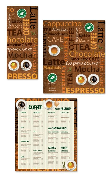 coffee menu template free coffee shop menu template dlayouts graphic design