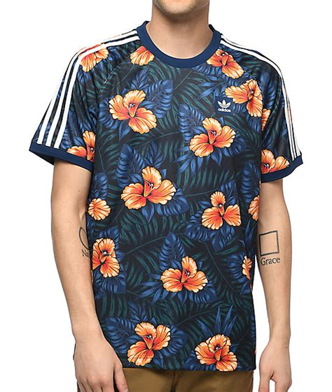 floral jersey adidas blue floral jersey