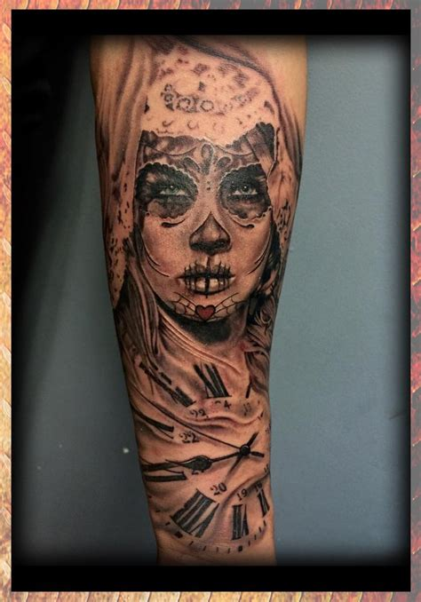 eternal ink tattoo http www eternalink biz day of the dead girl clock black