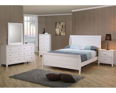 Next White Bedroom Furniture Coaster Furniture Bedroom Set In White Selena Co400231set