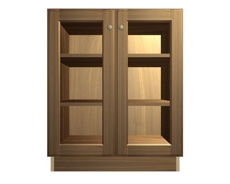 barker cabinets 2 glass door base cabinet