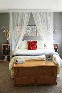 canopy bed sheers hanging from ceiling