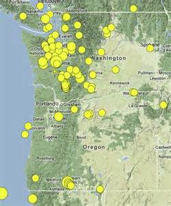 where are the earthquakes in the pacific northwest