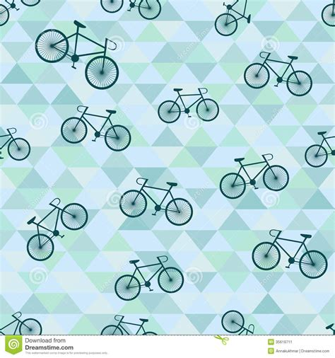 Hotel Floor Plans by Seamless Background With Bicycle And Triangles Stock Image