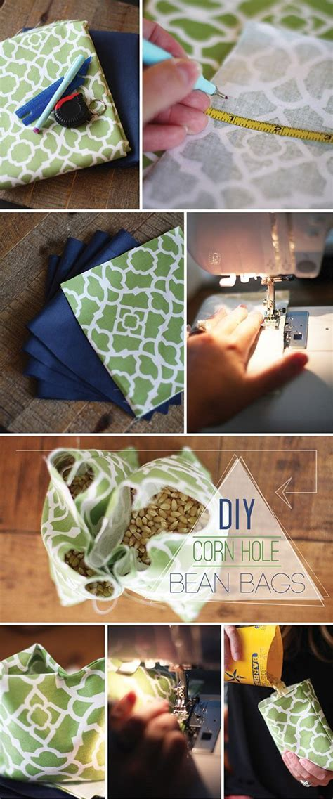 photo bean bag diy diy corn bean bags tutorial on the blissful