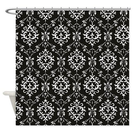 Black Cream Damask Shower Curtain By Dpeagreendesigns