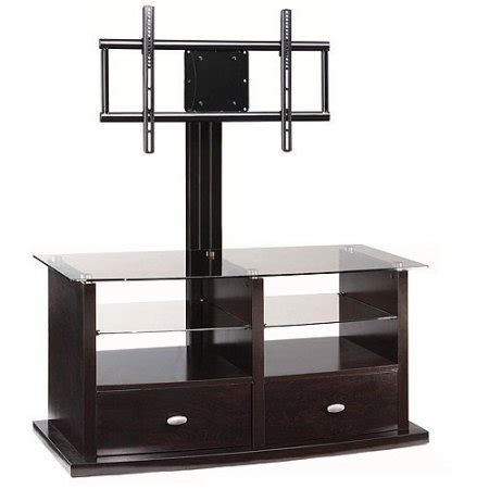Whalen Espresso Tv Stand With Swinging Mount For Tvs Up To