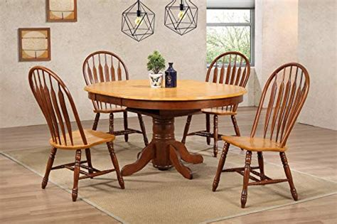 sunset trading oak selections dining room set  size