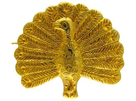 Peacock Brooch gold peacock brooch the antique jewellery company
