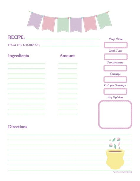 page from the kitchen of recipe card template 1000 images about recipe templates on recipe