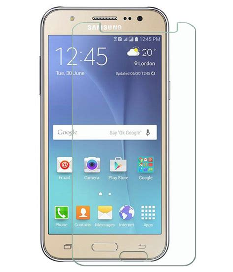 Tempered Glass Galaxy J5 samsung galaxy j5 tempered glass screen guard by deltakart