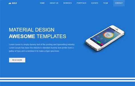 Free Material Design Template By The Webthemez Bootstrap Material Design Templates Free