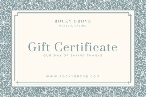 hotel gift certificate template hotel gift certificate templates canva