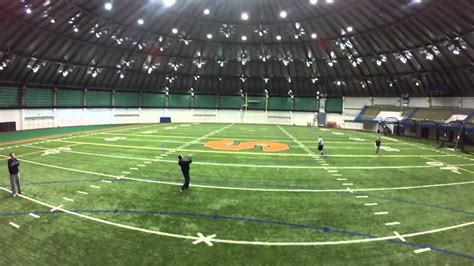 manley field house second drone flight at su s manley field house with football coaches youtube