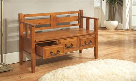 country entryway bench entryway bench with drawers groupon goods